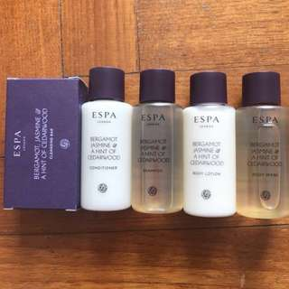 Espa toiletries