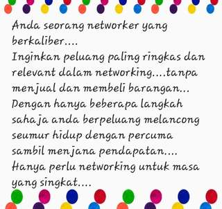 Peluang networking dalam masa yang singkat