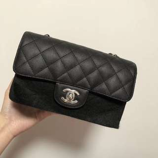 Chanel mini 20cm 黑色銀扣