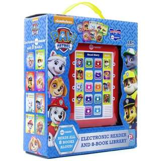 Electronic book reader with 8 books! Paw patrol, Disney, frozen, Thomas and the train, my little pony