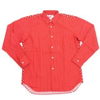 CDG Shirt x Supreme Long Sleeve Shirt (Red) LV comme des garcons