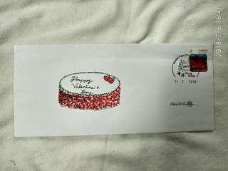 手繪生日紀念封
