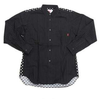 CDG Shirt x Supreme Long Sleeve Shirt (Black) LV comme des garcons