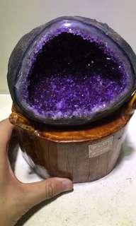 🈹高級烏拉圭紫晶錢袋💰