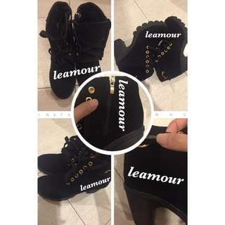 👢: Evidence Of Black High Cut Ankle Boots Arrival - Size EU 35, 37, 38 and 39!