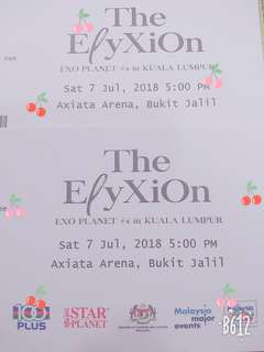 {Thanks 100 Plus ~EXO Concert Tickets