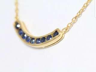 18k Sapphire Necklace