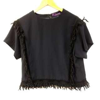 黑色上衣 Y's black top size 2