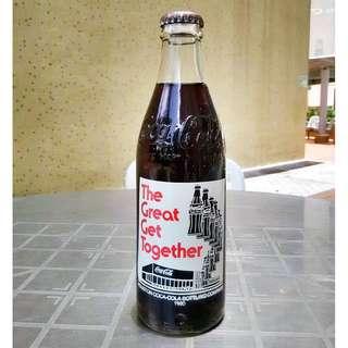 80年美國The Great Get Together可口可樂Houston瓶廠紀念玻璃樽一枝