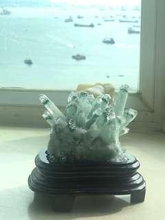 綠幽靈晶簇