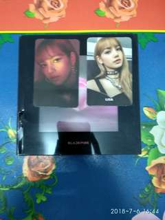 WTS BLACKPINK ALBUM SQUARE UP LISA SET BLACK