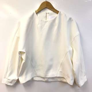 寬鬆衛衣 Elendeek white loose sweater top size 00