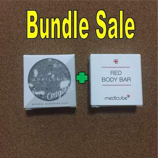 🚚 🌟 Special Promo 🌟 April Skin Original Soap 10g and Medicube Red Body Bar 10g Bundle