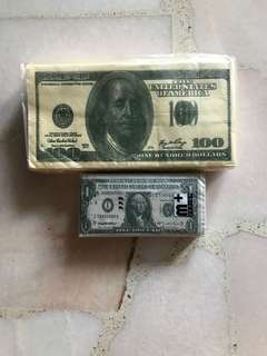 Novelty US Dollar Tissue and Serviette