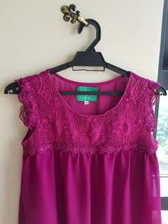 Topshop Maternity dress or top in Purple