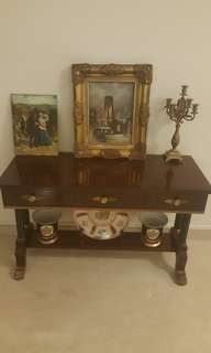 3 drawer solid wood table