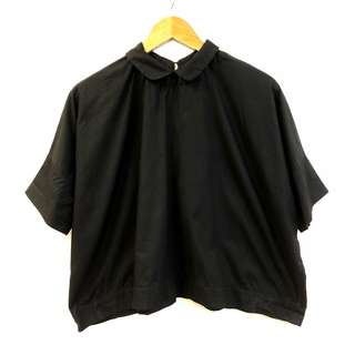 黑色上衣 Societe black shirt top size S oversize