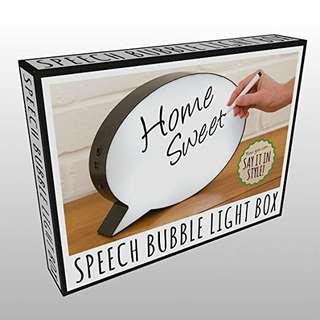 Light box Speech Bubble