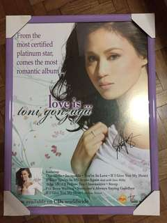 Framed Toni Gonzaga poster with Autograph