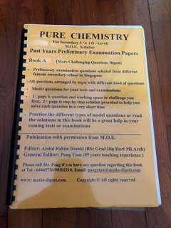 Pure Chemistry Past Years Prelim Papers