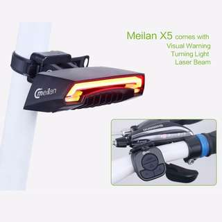 Meilan x5 / Rear light / meilan / fiido / am / tempo / dyu / light / rear / bicycle / escooter / e bike / ebike / e scooter / tail light / brake / laser / bikes / motor