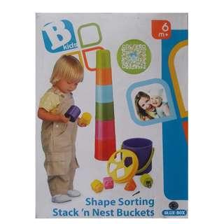 BKids- Shape sorting Stack 'n Nest Buckets