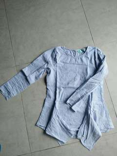 Pre-loved baby blue blouse