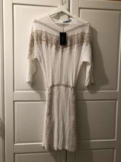 BLUMARINE embroidered lace knit dress