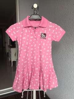 Hello kitty pink collar dress