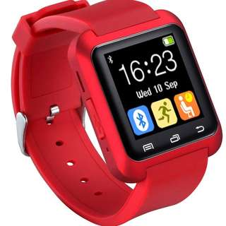 31.U80 Smart Watch Bluetooth 4.0 for Sports & Health Anti-lost Wrist Wrap Watch Phone Mate for Smartphones IOS Android Apple iphone 5/5C/5S/6/6 Puls (Red)