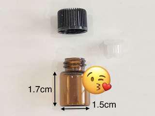 10 x 2ml Glass Bottle Amber