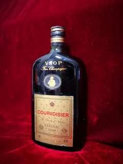 舊酒 收藏級 罕有拿破侖扁光樽 vsop courvoisier cogmac