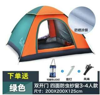Tent good for 2-3 people nt 600 3-4 nt 750