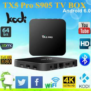 🚚 TX5 PRO Android TV Box 2GB Ram 16GB Rom 4K android 6.0 Amlogic S905X Quad Core Dual Wifi 2.4G/5G Wifi Smart TV Box