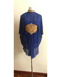 Kaftan dress with inner