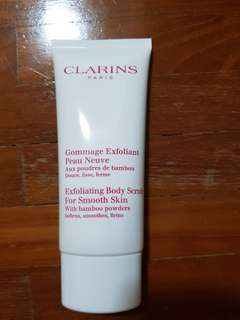 Clarins exfoliating body scrub-100ml
