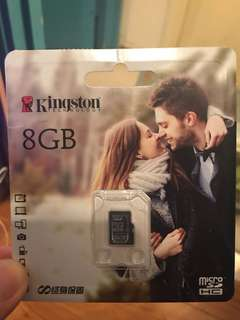 (全新)Kingston micro sdhc 8Gb  記憶卡