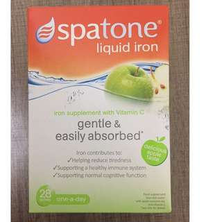Spatone鐵水 (蘋果味), 28日裝, Spatone liquid iron with Vitamin C (apple taste), 28sachets