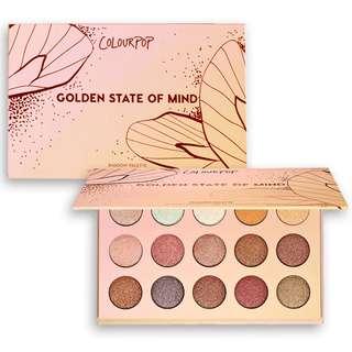 Colourpop a golden state of mind eyeshadow palette