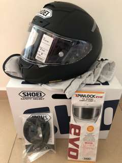 Shoei x-14 Matt black helmet