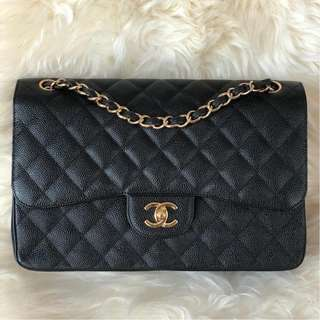 Chanel Jumbo Double Flap Black Caviar with GHW