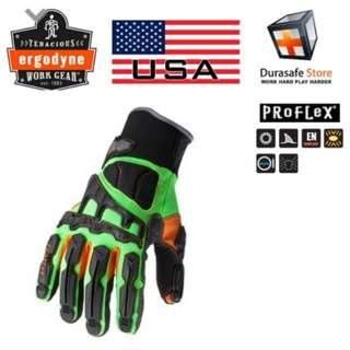 ERGODYNE 925F(x)ProFlex Dorsal Impact-Reducing Glove(SIZE S)
