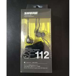 Shure SE112 Earphones - Original