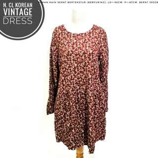 NCL Korean Vintage Dress | Pakaian Wanita | Terusan Import