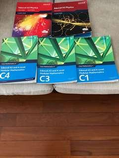 Edexcel mathematics & Physics textbooks