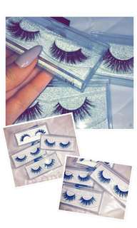 🚚 1 Pair 3D Mink False Eyelashes with Silver Glitter Casings