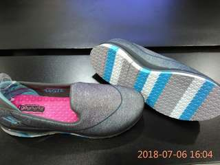 Sepatu Skechers GoFlex Walk untuk anak Perempuan Original BNIB Grey