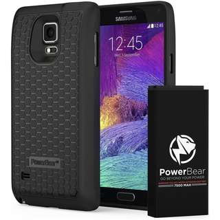 801. PowerBear Samsung Galaxy Note 4 Extended Battery [7500mAh] & Back Cover & Protective Case
