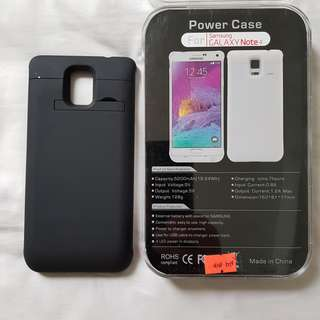 Samsung Galaxy Note 4 extended battery powercase