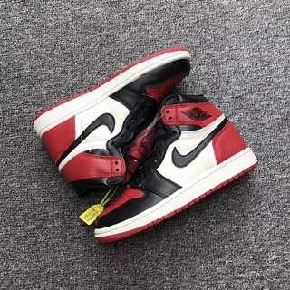 Nike Air Jordan 1 OG AJ1 Bred Toe球限量版鴛鴦